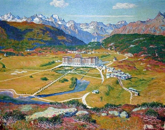 Vista su Maloggia con l'albergo Palace